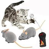 XLKJ Telecomando Giocattolo Ratto,Giochi Elettronici per Animali Domestici Gatto