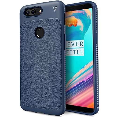 OnePlus 5T Case, TPU Leather Ultra Slim Back Case, Shock Absorbing Bumper Protective Case