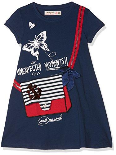 Desigual Mädchen Kleid Vest_Charleston, Blau (Navy 5000), 140 (Herstellergröße: 9/10)