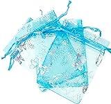 iSuperb - Bolsas de organza de colores para dulces, bolsas, regalo, pequeñas y transparentes,...