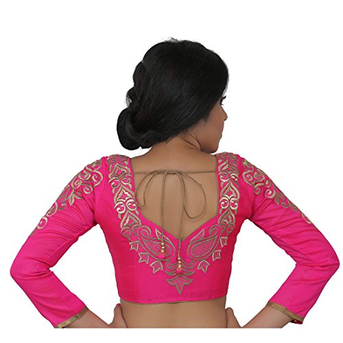 Intrigue pink dupion silk long sleeves blouse