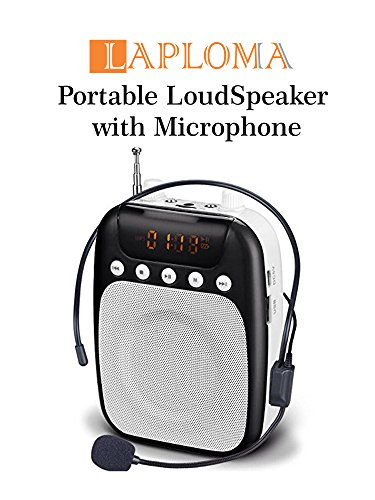 Laploma Retro Portable Speaker with MIC, KARAOKE & RECORDING original voice amplifier