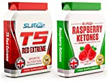 MASSIVE PROMO DISCOUNT - T5 Fat Burners x60 Capsules - T5 Red Extreme Strong Thermogenic Fat Burner - Slimming Diet Pills for Weight Loss | Suppress Appetite, Boost Metabolism and Increase Energy for Men and Women