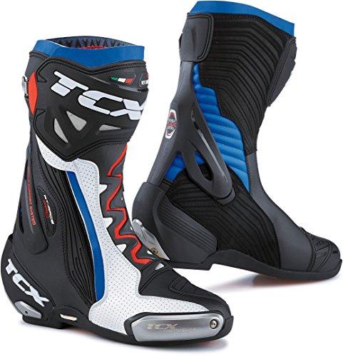 TCX Motorradstiefel RT-Race PRO AIR weiß/schwarz/blau, weiß/schwarz/blau, 47 -