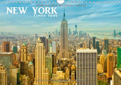 NEW YORK - Famous Views (Wandkalender 2014 DIN A4 quer): Bekannte Ansichten der grandiosen amerikanischen Metropole! (Monatskalender, 14 Seiten)