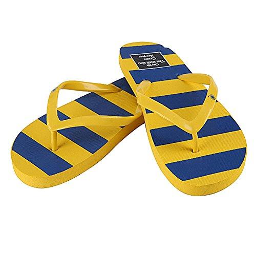 Per donna in PVC, con chiusura Flip, per Sandali estivi da spiaggia Giallo (giallo)