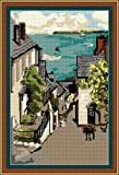 Brigantia Needlework Clovelly Bay Tapestry Picture Kit in Tent Stitch