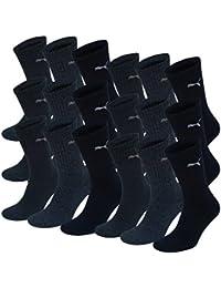 18 pair Puma Sport Socks Tennis Socks Gr. 35 - 49 Unisex, Farben:321 - navy, Socken & Strümpfe:39-42