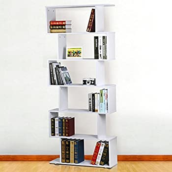 magazine storage units popamazing 6 tier 192cm tall wooden cabinet white bookcase gloss