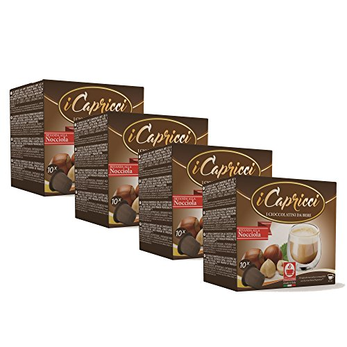 Bonini iCapricci Nespresso Kakao Kapseln - 40 Nocciola Schokolade Kapseln, Nespresso kompatibel von Bonini