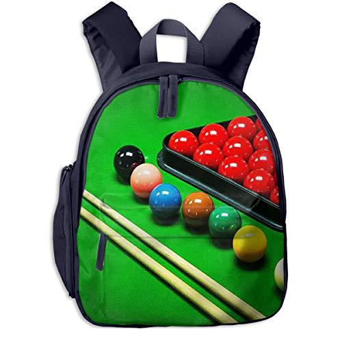 Kinderrucksack Snooker Spiel, Schulrucksack für Mädchen und Jungen Schultasche Schulranzen Teenager Backpack Daypack Freizeitrucksack Kinder Rucksack