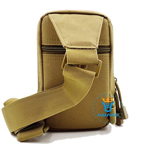 Multifunktions Survival Gear Tactical Beutel MOLLE Beutel Messenger Tasche Brust Tasche, Outdoor Camping EDC ID Kreditkarte Brieftasche Schultertasche Taille-Tasche Handytasche KH