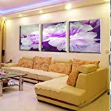 FYBSNDY Leinwand 3 Stück Wandkunst Liebhaber Blume Große Leinwand Kunst Billig Wandbild Blume Moderne Hauptdekoration 30Cmx50Cmx3