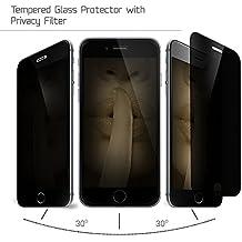 Cristal Templado Protector de Pantalla Para iPhone 6 Plus /6S Plus (Privacy Matt)- NEVEQ® Vidrio Templado, el Apple iPhone 6 Plus (6S Plus) Peeping and Black-Out Visual Protection Privacy Matt (5.5) Pulgadas de Pantalla con Garantía de por Vida, piel Protectora de la Cubierta de 9H de Dureza.