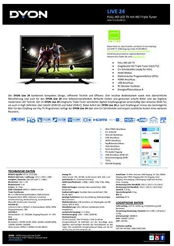 Dyon Live 24 60 cm (23,6 Zoll) Fernseher (Full-HD, Triple Tuner, DVB-T2 H.265 /HEVC) - 3
