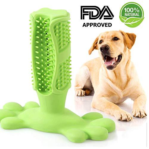 FREESOO Cepillo de Dientes para Perros Caucho Limpieza de Higiene Dental Juguete para Masticar Limpiador Dientes Perros Cepillos Dientes de Perro Mascotas Juguetes Interactivos No Tóxico Resistente