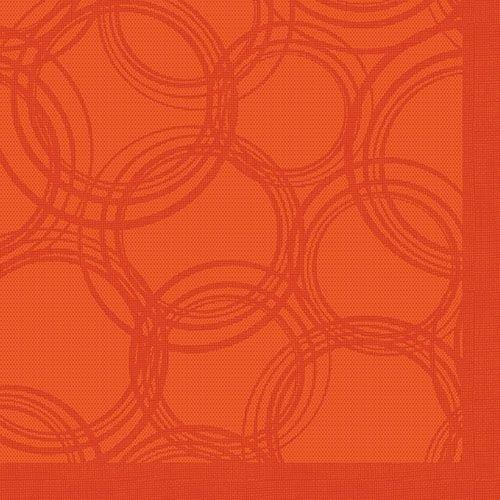 """50 Servietten """"ROYAL Collection"""" 1/4-Falz 40 cm x 40 cm nektarine """"Bubbles"""" 86494 Papstar Premium stoffähnlich hochwertig Qualität stabil gute Faltbarkeit"""