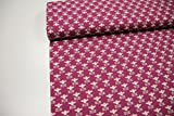 Stoff / 50cmx140cm / Kinder / beste Jersey-Qualität / Jersey Blumen retro rosa, grau auf lila