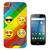 002319 - Collage Emoji Smiley Faces Fun Design Acer Liquid