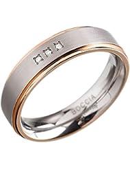 Boccia Unisex-Ring Titan Diamant (0.015 ct) transparent Brillantschliff - 0134-02