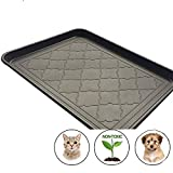Easyology Premium Pet Food Tray - Large Dog And Cat Food Mat With Non Skid Design - Best For Containing Spills and as Pet Feeding Mat