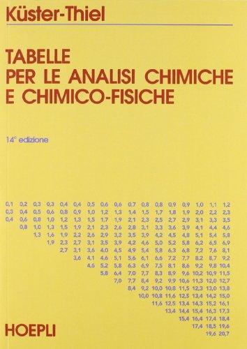 Tabelle per le analisi chimiche e chimico-fisiche. Per le Scuole superiori (Chimica)