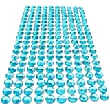 400 x Turquoise Crystal Self Adhesive Diamante Stick On Rhinestone Gems 2mm (Crafts / Weddings)