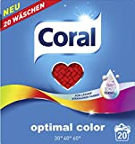 Coral Optimal Color Pulver 40 Waschladungen, 2er Pack (2 x 20 Waschladungen)