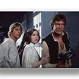 Box Prints Star Wars Film Vintage Retro-Stil Poster Kunstdruck Schwarz Weiß gerahmte Bild Klein groß