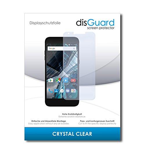 disGuard® Bildschirmschutzfolie [Crystal Clear] kompatibel mit Archos 55 Graphite [4 Stück] Kristallklar, Transparent, Unsichtbar, Extrem Kratzfest, Anti-Fingerabdruck - Panzerglas Folie, Schutzfolie