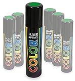 KarnevalsTeufel Hairspray Color buntes Haarspray Haarschmuck farbig (Grün)