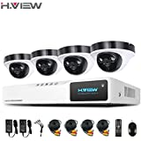 H. View 8 CH 1080P CCTV Kameras System, 4 * 1920 x 1080P (,) Dome Sicherheit Kameras, 8-Kanal DVR Video Recorder, Home Security CCTV Kits unterstützt Android, Iphone Fernüberwachung (kein HDD)