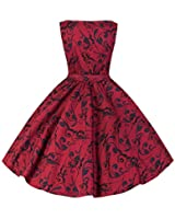 Pretty Kitty Fashion 50s Rot Druck Swing-Kleid