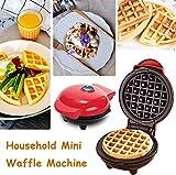 Lelestar Waffles Piastra, Mini Macchina per Ferro per Waffle per Uso Domestico, Torta elettrica per Biscotti per frittelle, Rivestimento Antiaderente, Piastre per Cottura Profonda