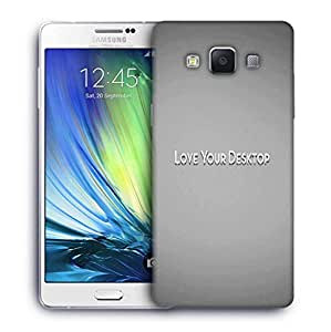 Snoogg Love Your Desktop Grey Designer Protective Phone Back Case Cover For Samsung Galaxy A7