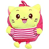 Whitecloud® Velvet Cute Soft Toy Backpack for Kids School Bag (ITN-002) (Pink) Fabric