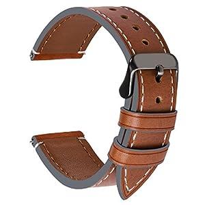 Fullmosa Ersatz Armbänder für Uhr in 6 Farben, Wax Series Echtes Leder Uhrenarmband/Wactch Armband/Replacement für 14mm 16mm 18mm, 20mm, 22mm, 24mm