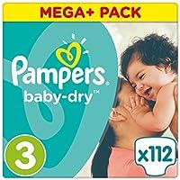 Pampers Baby Dry Windeln, Gr. 3 (5-9 kg), Mega Plus, 1er Pack (1 x 112 Stück)
