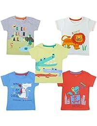 YUV Baby Boys' & Baby Girls' T-Shirt (Pack of 5)