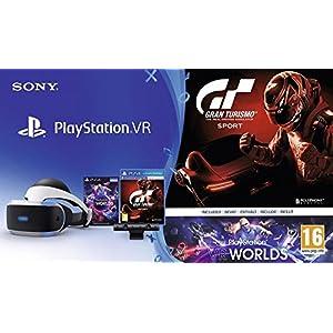 PlayStation VR + Caméra V2 + Gran Turismo Sport + VR Worlds (Jeu a télécharger) + Qui-es-tu ? (Jeu PlayLink a télécharger)
