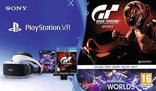 PlayStation VR + Caméra + GT Sport + VR Worlds (Digital)