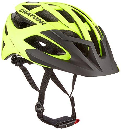 fahrradhelm neon gelb Cratoni C-Hawk Fahrradhelm, Neon Yellow-Black Rubber, M-L