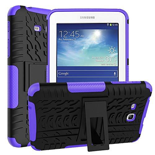 Asstar Schutzhülle für Samsung Galaxy Tab E Lite 7.0 SM-T113 und Tab 3 Lite T110 / T111 schwarz/violett