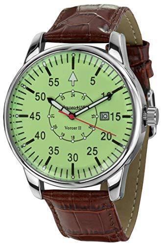 Calvaneo 12544 - Reloj, correa de cuero color marrón