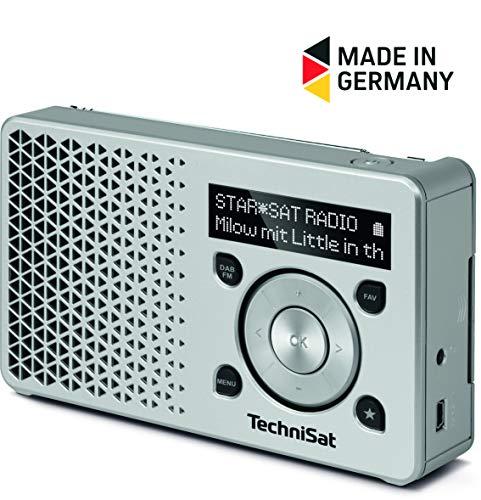 TechniSat DIGITRADIO 1  Empfangsstarkes Radio Made in Germany (DAB+ Digitalradio, UKW, FM, Lautsprecher, Kopfhörer-Anschluss, Favoritenspeicher, OLED-Display, Akku, klein, tragbar)