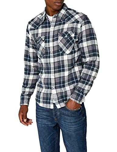 Levi's barstow western camicia, grigio (wintercress dark heather gray 246), large uomo