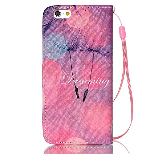 """Nutbro iPhone 6S Case, 4.7"""" iPhone 6 Case, [Wrist Strap Design][Kickstand] with Built-in Credit Card Slots Wallet Case for iPhone 6 / iPhone 6S, 4.7 inch 5"""