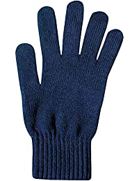 Men's Plain Thermal Knit Warm Winter Gloves with Spandex