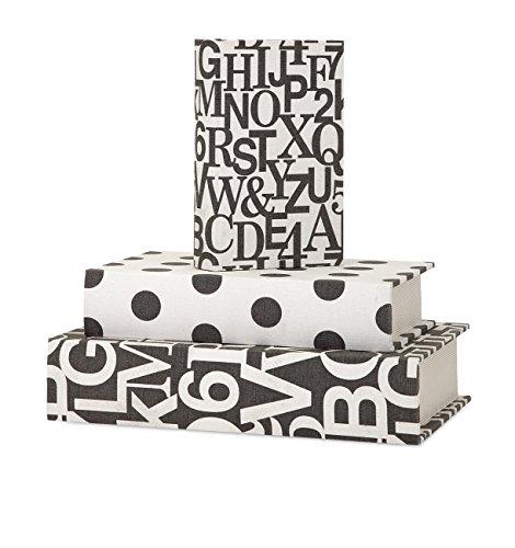 imax-margie-libro-scatole-nero-bianco-set-di-3
