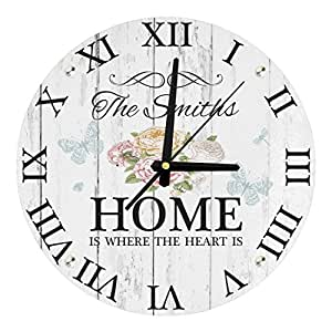 Personalisierte Home Is Where The Heart Is, 30 cm lang, gehärtetes Glas
